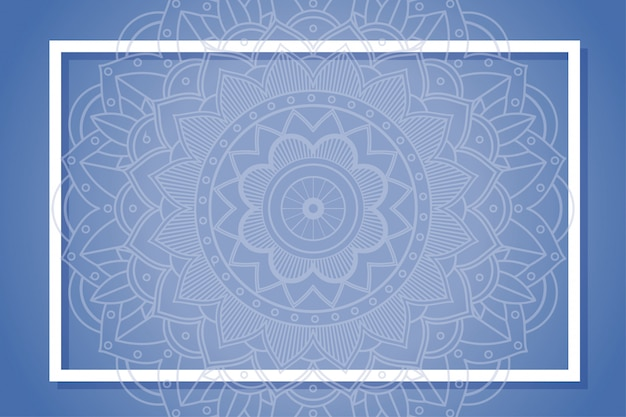 Background frame with mandala designs