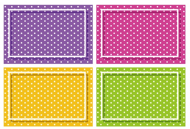 Background frame with polka dot design