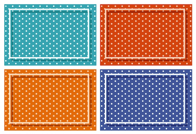 Background frame with polka dot patterns