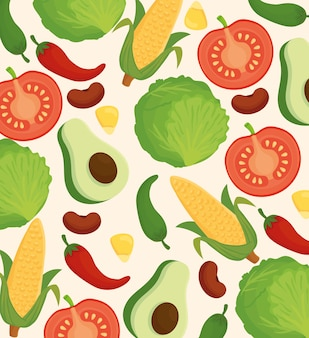 Background of fresh and delicious vegetables