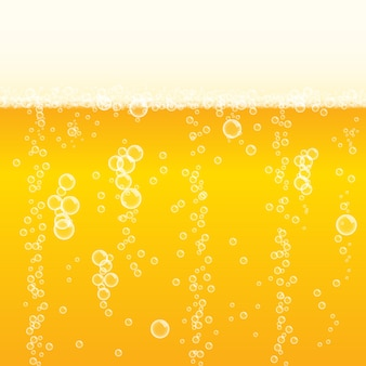 Background frothy lager beer with bubbles