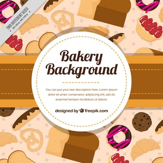 Background full baked products