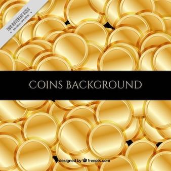 背景フル黄金のコイン