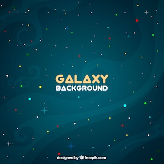 Background of galaxy with colored circles