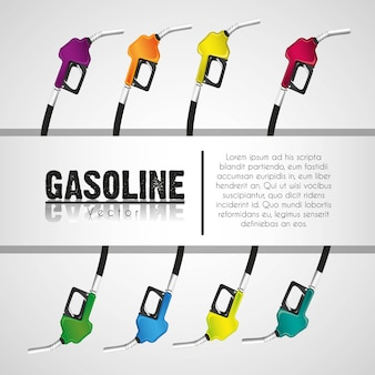 Background gas pumps stripe on white for text