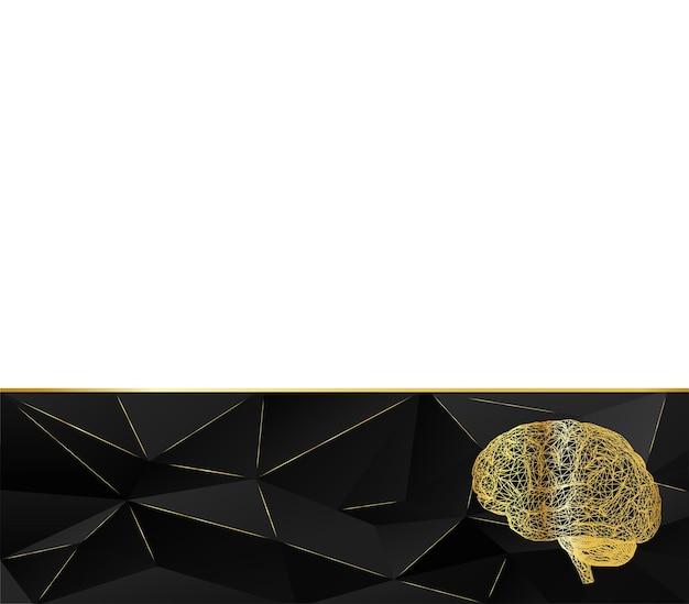삼각형의 배경 기하학적 스타일 인간의 두뇌 다각형 스타일 벡터 일러스트 레이 션
