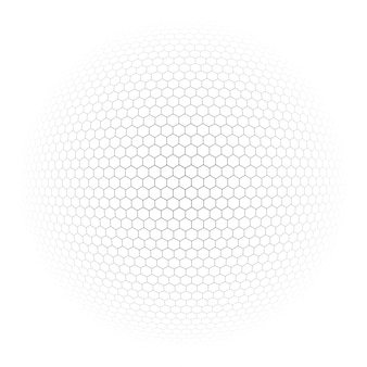 Background globe with hexagon signs vector
