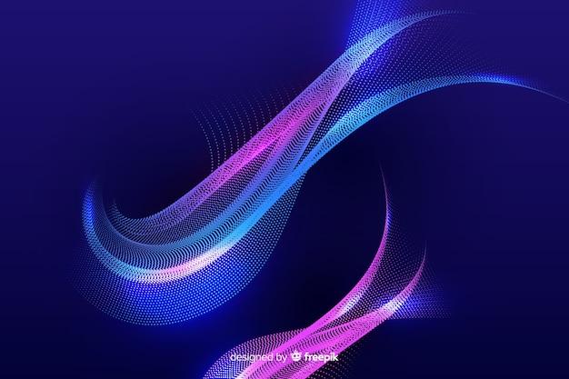 Фон светящихся частиц