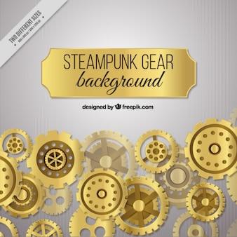 Background of golden gears