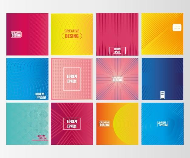 Фоновая градиентная текстура для минимальной динамической коллекции обложек векторные иллюстрации