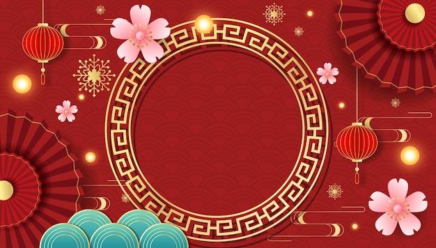 中国の祭りの背景グラフィック