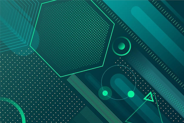 Background green abstract geometric