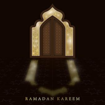Background for greetings ramadan kareem.