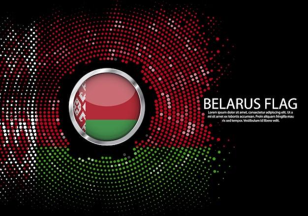 Background halftone gradient template of belarus flag