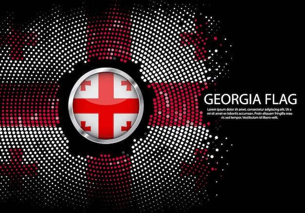 Background halftone gradient template of georgia flag.