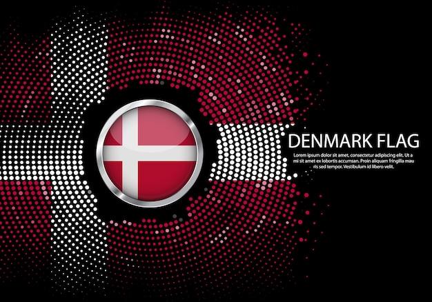 背景デンマークフラグのハーフトーングラデーションテンプレート。