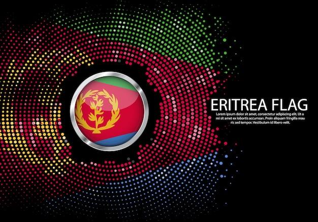背景エリトリアの旗のハーフトーングラデーションテンプレート。