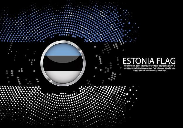 背景エストニアflagのハーフトーン勾配テンプレート。