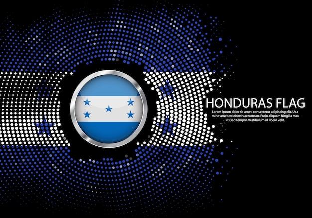 온두라스 국기의 배경 하프 톤 그라데이션 템플릿입니다.