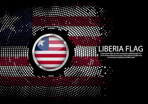 背景リベリア旗のハーフトーングラデーションテンプレート。