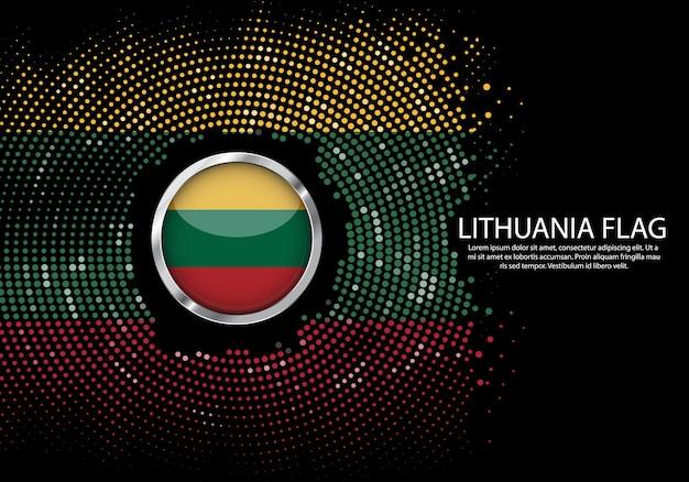 背景リトアニアflagのハーフトーン勾配テンプレート。