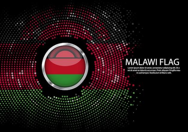 背景マラウイflagのハーフトーングラデーションテンプレート。
