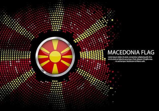 Background halftone style of macedonia flag.
