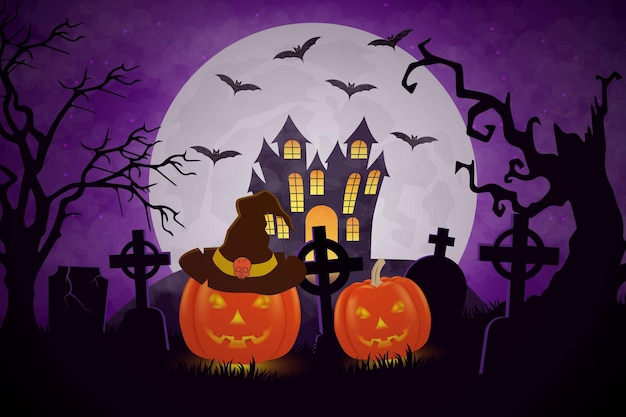 Background halloween pumpkin design
