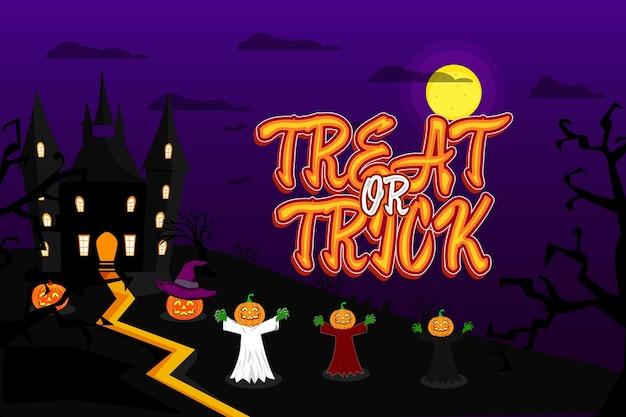 Background halloween treat or treat costume