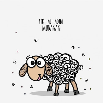 Background of hand-drawn lamb