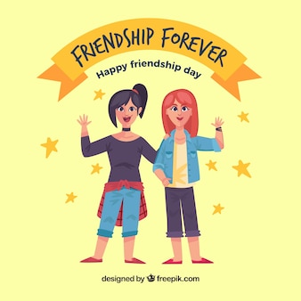 Background of happy day of friendship with friends