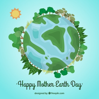 Background happy mother earth day