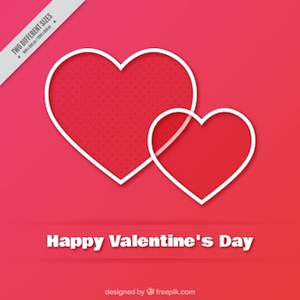 Background of happy valentine's day hearts