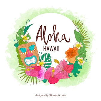 Sfondo degli elementi hawaii