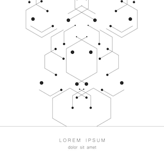 Background hexagon geometrical figures. technology design for creative process