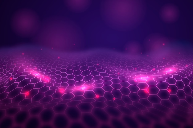 Background hexagonal net futuristic