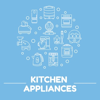 Background household appliances for the kitchen