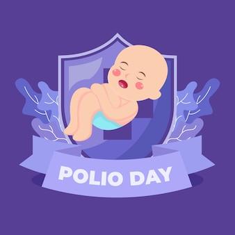 世界のポリオの日の背景イラストデザイン