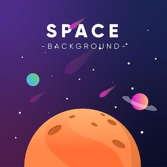 Background illustration space