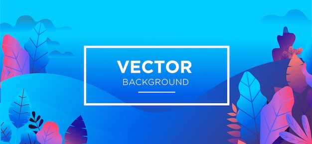 Background illustration trendy flat style