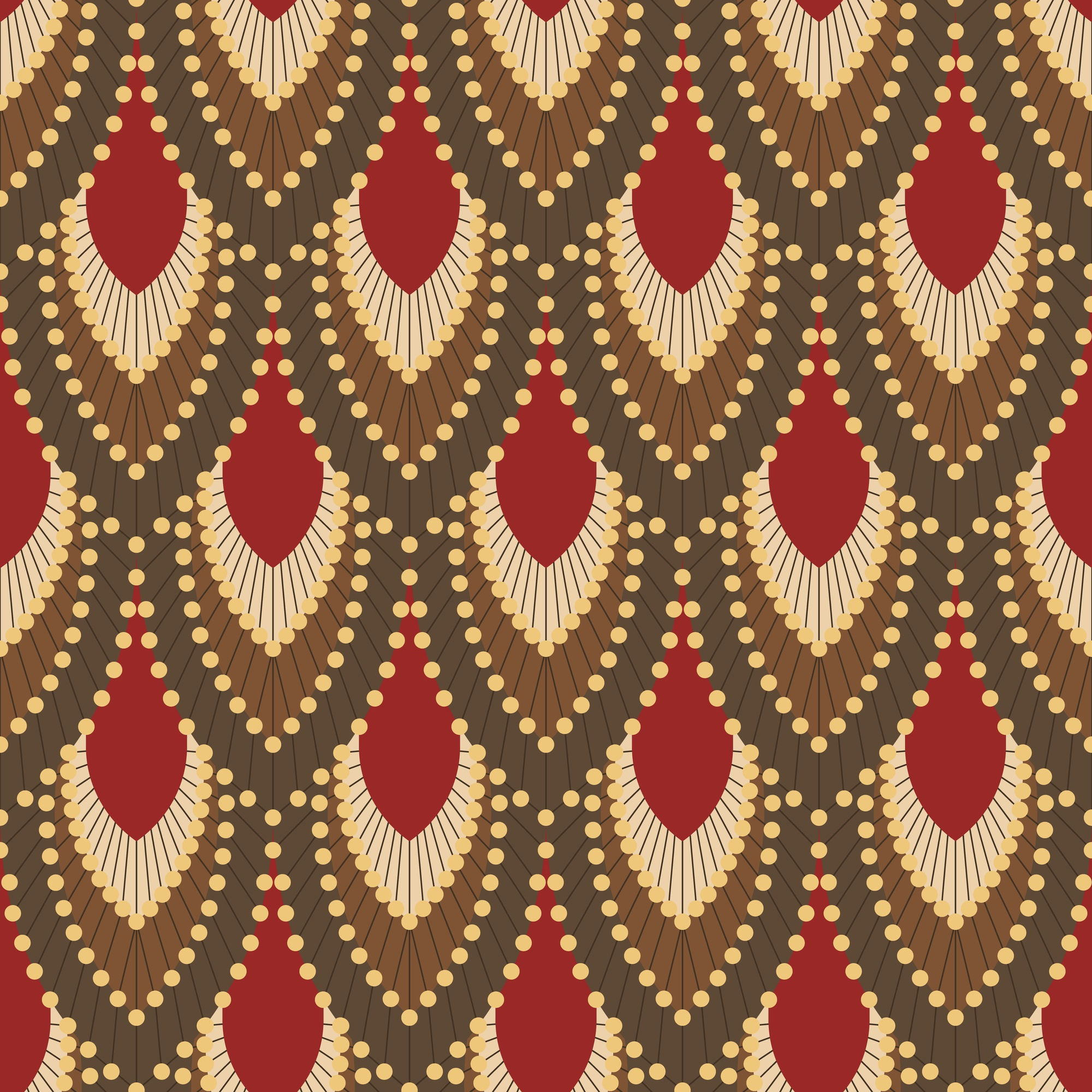 Background in Art Deco style with feathers 3