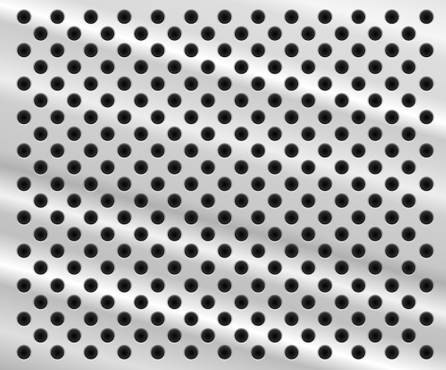 穴のあるアルミニウムシートの形の背景