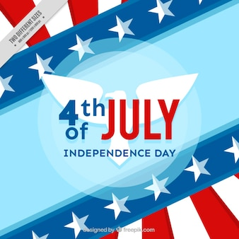 Background of independence day with usa frag