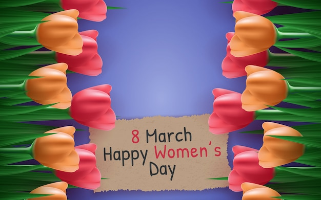 Background for the international women's day.