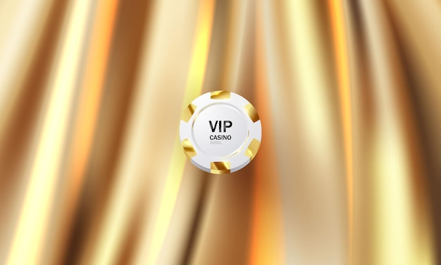 The background is a gold theater curtain vip. illustration in vector format.