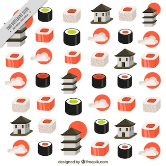 Background of japonese gastronomy