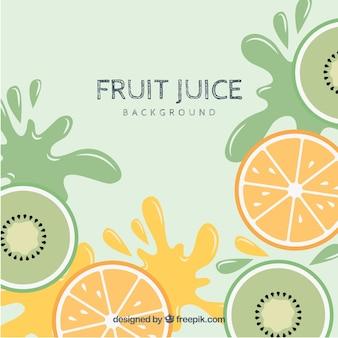 Background of kiwi juice and orange