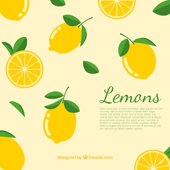 Background of lemons