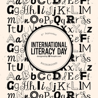 Background letters of literacy day