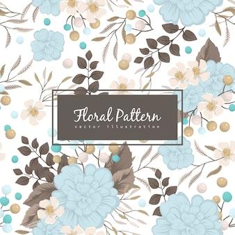 Background light blue seamless pattern